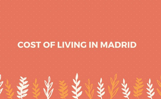Cost of living Madrid city