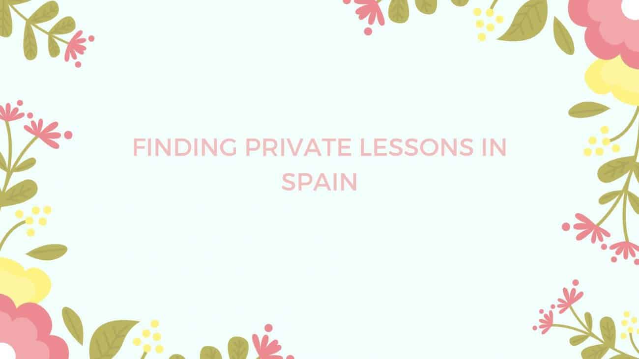 English Private lessons Spain