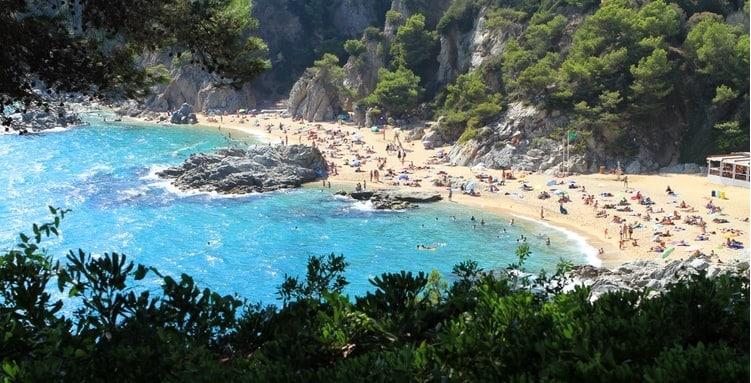 Spain good weather beach