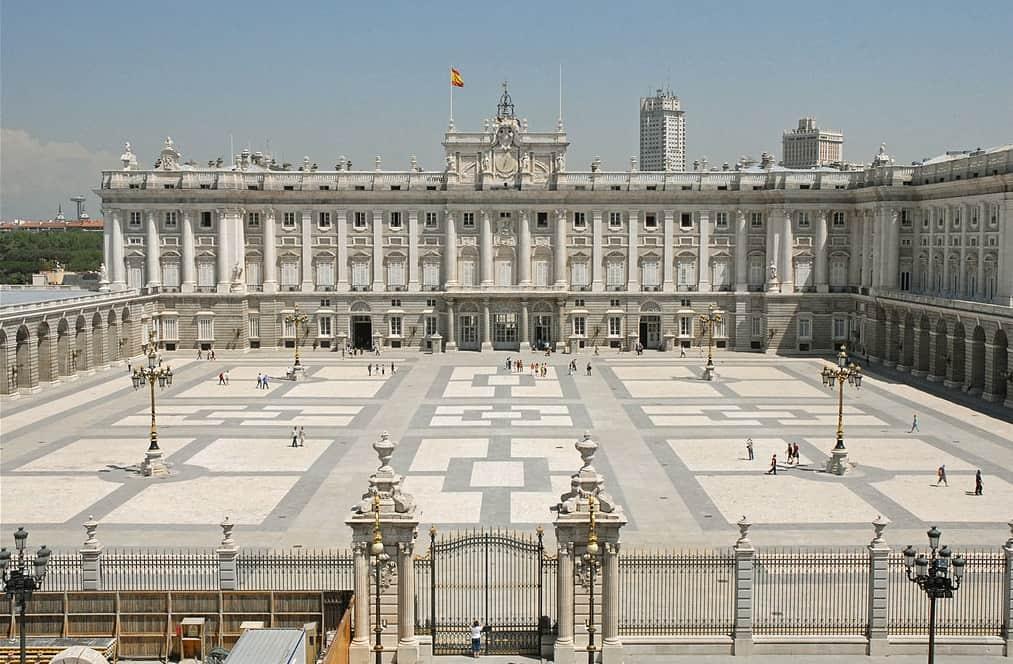 Sunset spot in Madrid Palacio Real