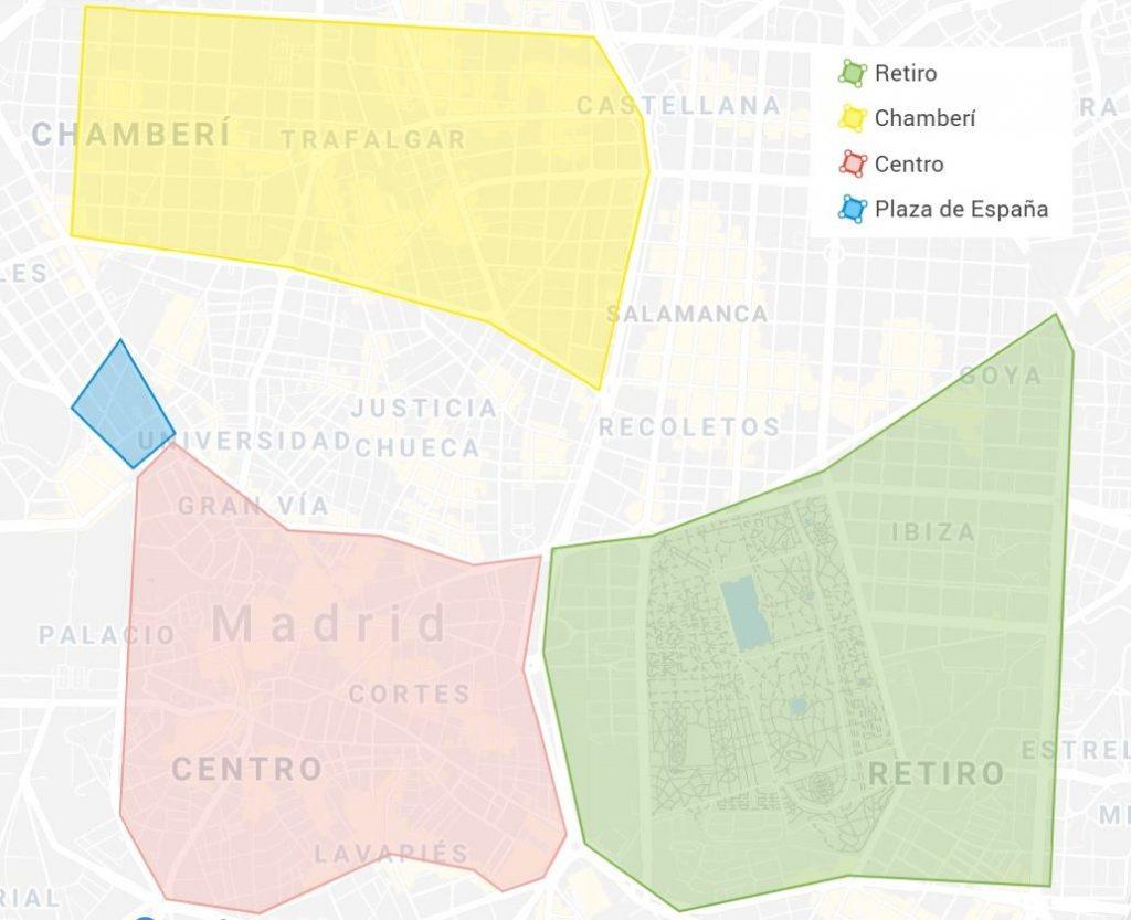 Map Neighborhoods movie theaters