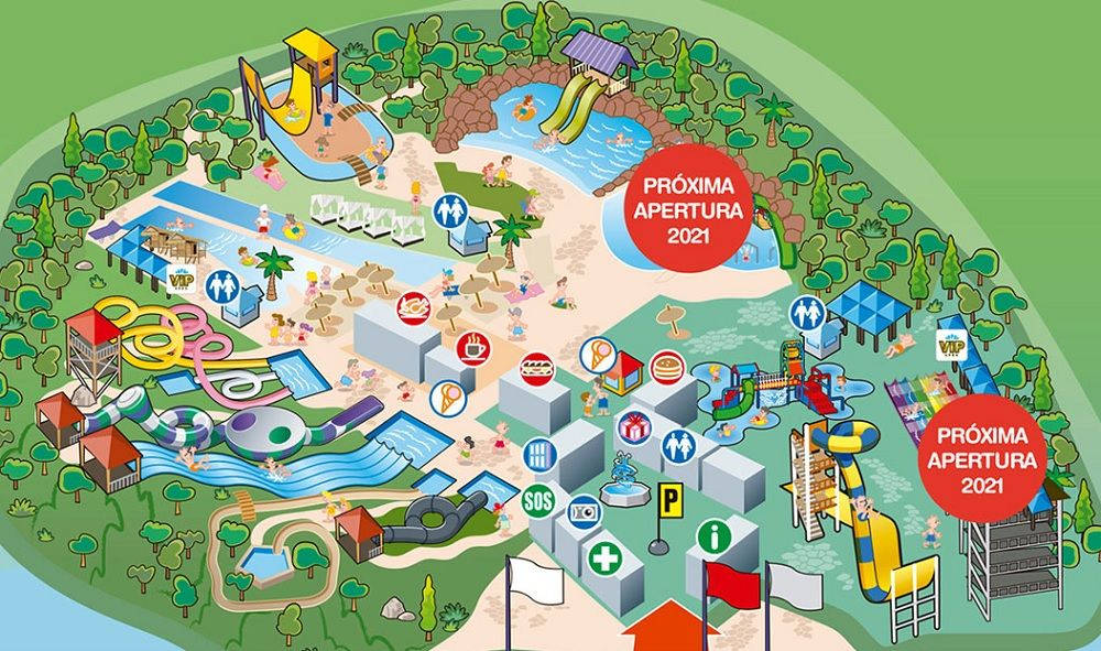 Water park Madrid map
