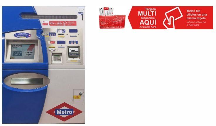 Get Madrid metro pass machine