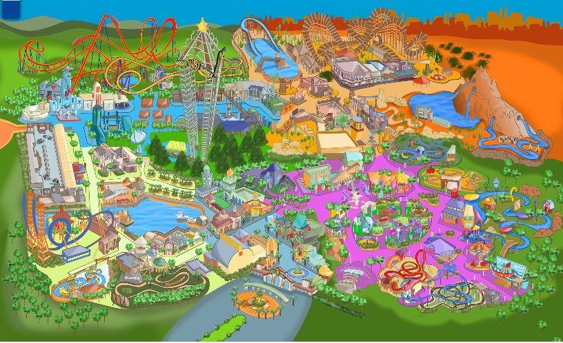 Map Parque Warner Madrid
