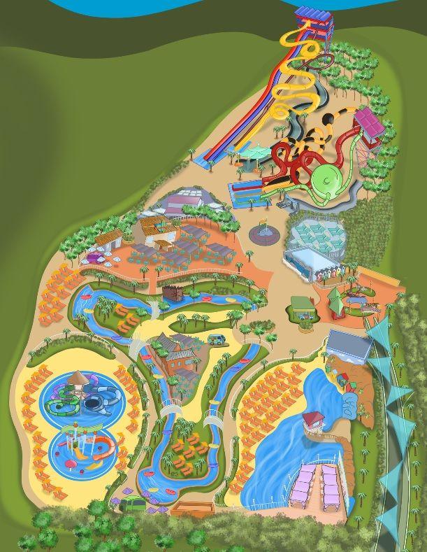 Parque Warner Beach map Madrid