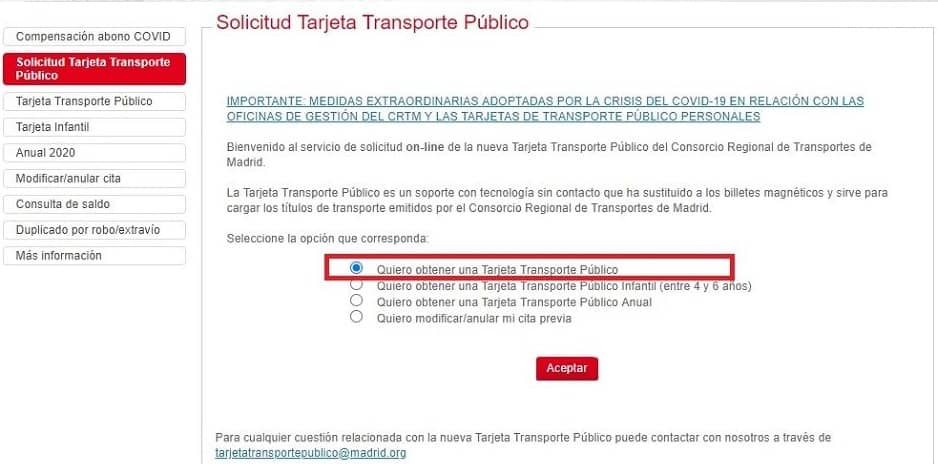 step 1 how to get Madrid metro card