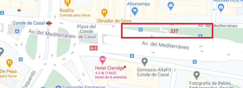 map bus to Chinchon