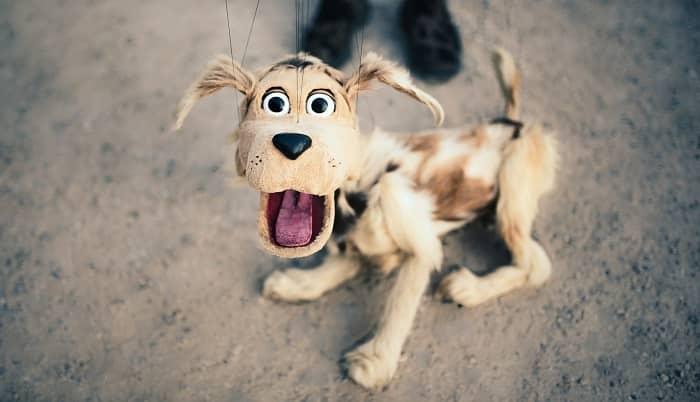 dog puppet Retiro park